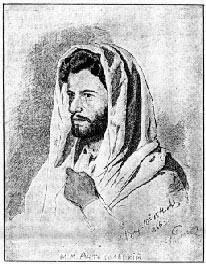 М.М.Антокольский. Рисунок И.Репина, 1866 г.